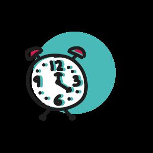 Alarm clocks can help to keep routine.
